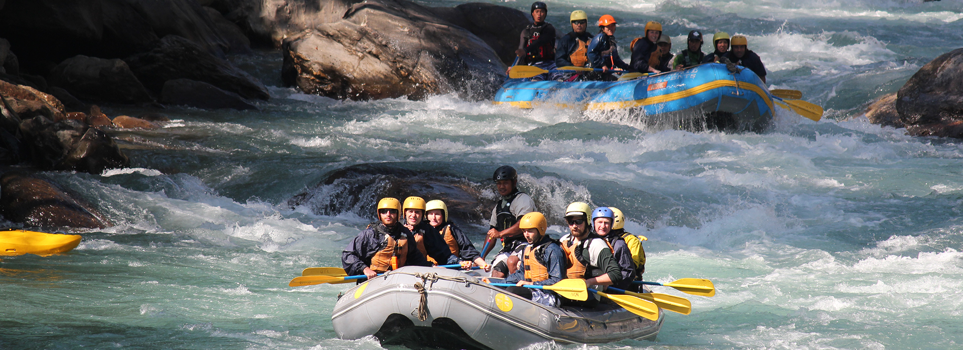 Rafting on the river Jiu
