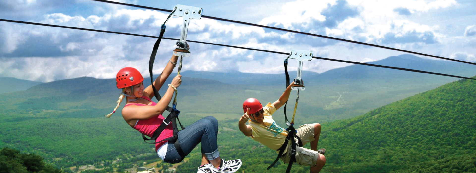 The zipline ride
