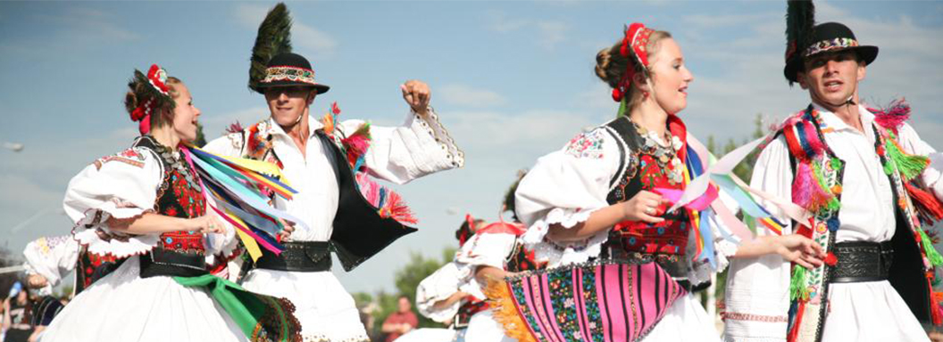 Traditional folk dancing event